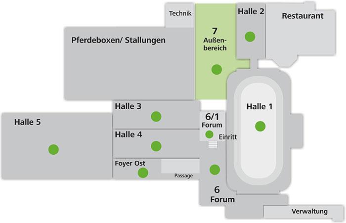 Hallenplan-map