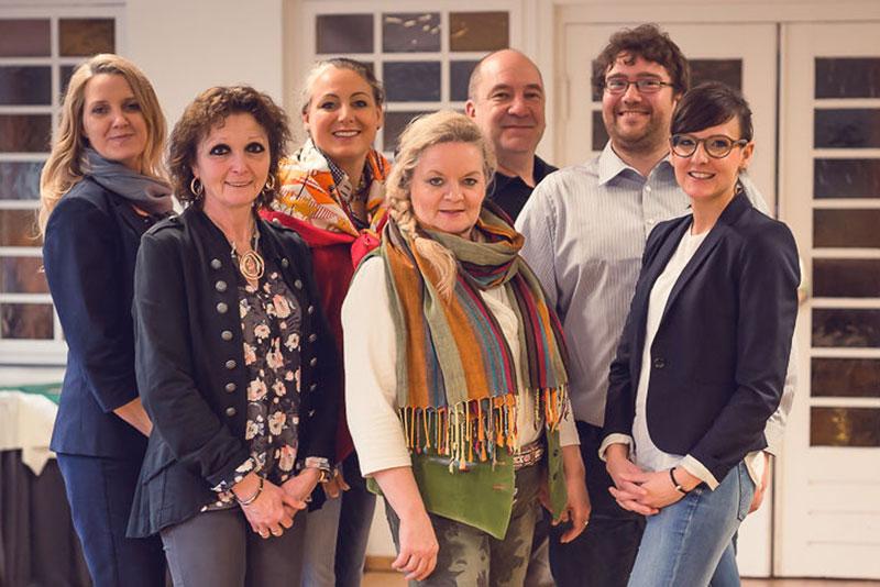 Das Nordpferd Orga-Team: Yvonne Gähler, Birgit Wolf, Dr. Beatrice Baumann, Katrin Stolz, Peter Schramm, Janne Ovens, Maren Weißert